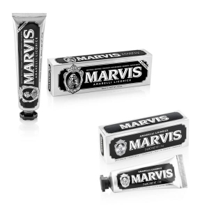 Marvis Amarelli Licorice - zestaw past do zębów w stylu retro (85 ml + 25 ml)