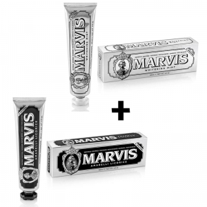 Zestaw Marvis Whitening Mint z Xylitolem + Marvis Amarelli Licorice z Xylitolem