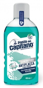 Pasta del Capitano Antiplacca - Płyn do płukania jamy ustnej (400 ml)