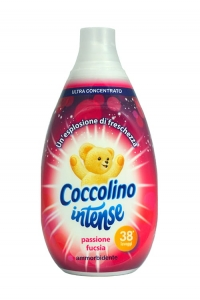 Coccolino Intense Fuksja - Koncentrat do płukania tkanin (570 ml - 38 p.)