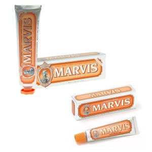 Marvis Ginger Mint - zestaw past do zębów w stylu retro (85 ml + 25 ml)